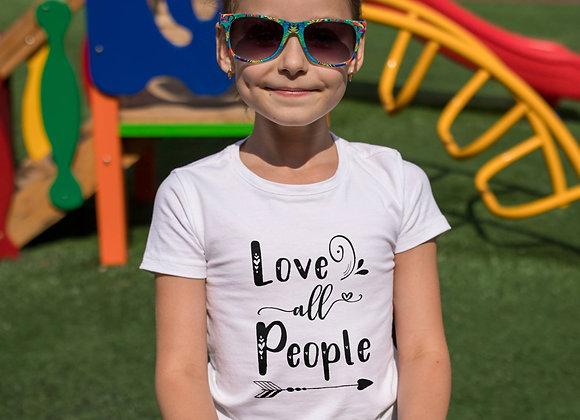 Kids Organic Cotton TShirt - Love all People