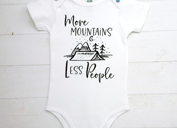 Organic Cotton Baby Bodysuit - More Mountains Less People