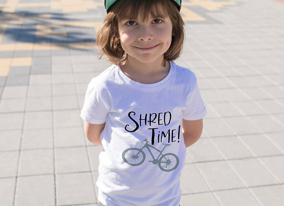 Kids Organic Cotton TShirt - Mountain Bike - Shred Time!