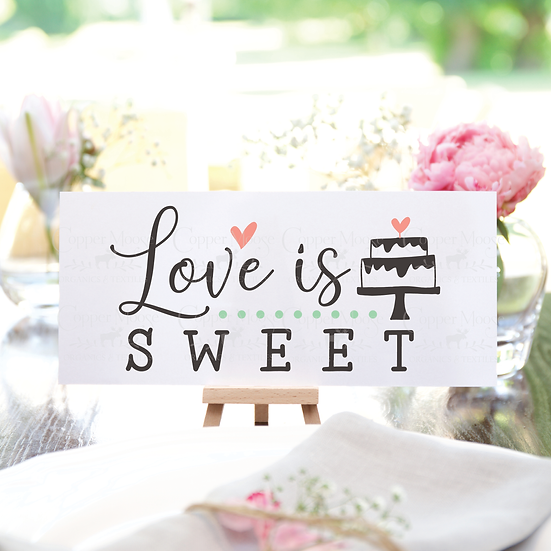 COMMERCIAL LICENSE  Love is Sweet Digital Graphic
