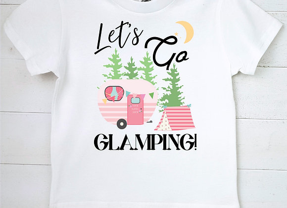 Kids Organic Cotton TShirt - Let's Go Glamping