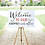 Thumbnail: COMMERCIAL LICENSE Wedding Welcome Digital Graphic