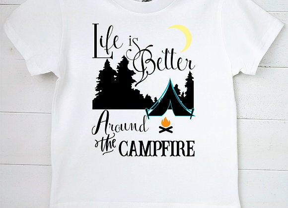 Kids Organic Cotton TShirt - Life is Better Around the Campfire