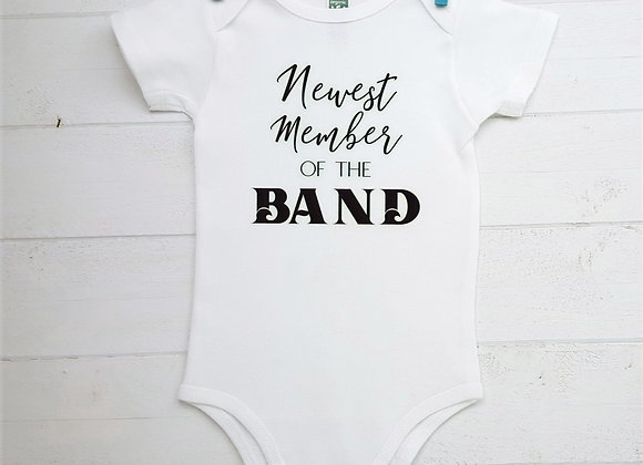Organic Cotton Baby Bodysuit - Newest Member of the Band
