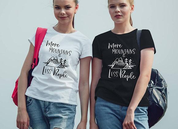 Women's Organic Cotton TShirt - More Mountains Less People