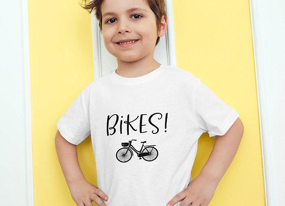 Kids Organic Cotton TShirt - Bikes!