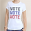 Thumbnail: Women's Organic Cotton TShirt - Vote Vote Vote