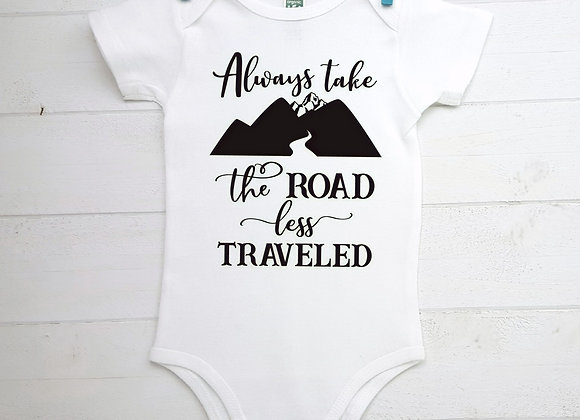 Organic Cotton Baby Bodysuit - Always Take the Road Less Traveled