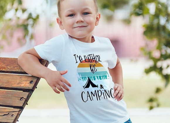 Kids Organic Cotton TShirt - I'd Rather be Camping