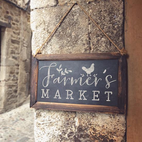 COMMERCIAL LICENSE  Farmer's Market Digital Graphic