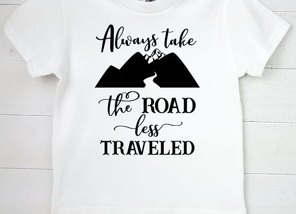 Kids Organic Cotton TShirt - Always Take the Road Less Traveled
