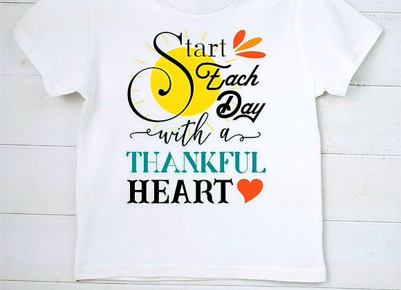 Kids' Organic Cotton TShirt - Start Each Day with a Thankful Heart