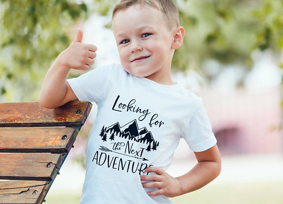 Kids Organic Cotton TShirt - Looking for the Next Adventure