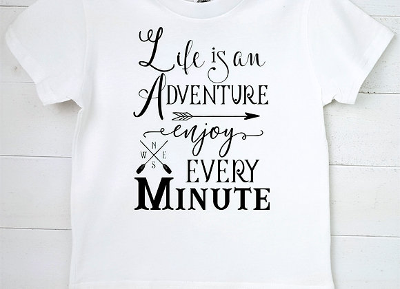 Kids Organic Cotton TShirt - Life is an Adventure enjoy Every Minute