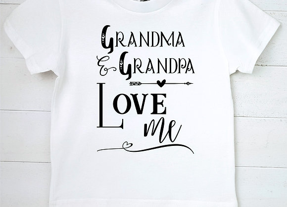 Kids Organic Cotton TShirt - Grandma & Grandpa Love Me