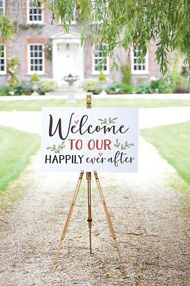 Wedding Sign Mockup_Welcome to our Weddi
