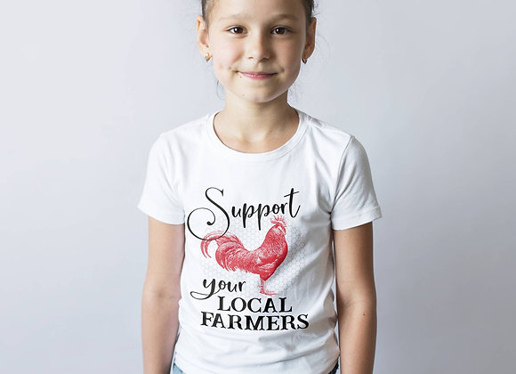 Kids' Organic Cotton TShirt - Support Your Local Farmers