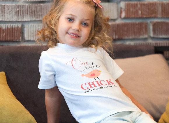Kids' Organic Cotton TShirt - One Cute Chick