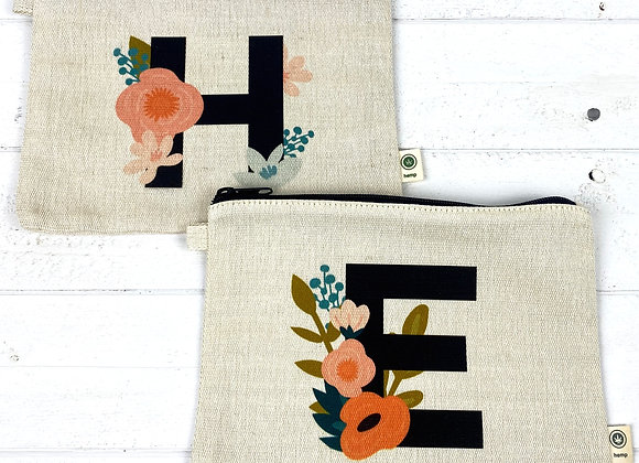 One Dozen Custom Print Hemp Zipper Bags - Any Design or Logo