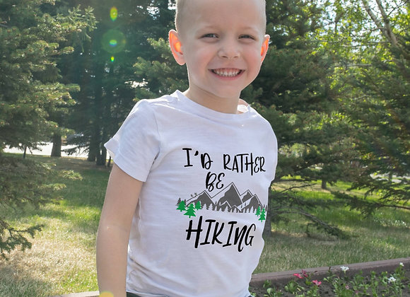 Kids Organic Cotton TShirt - I'd Rather Be Hiking