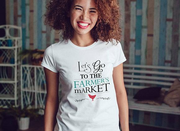 Women's Organic Cotton TShirt - Let's Go to the Farmer's Market