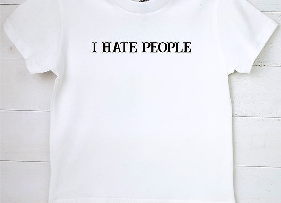 Kids Organic Cotton TShirt - I Hate People
