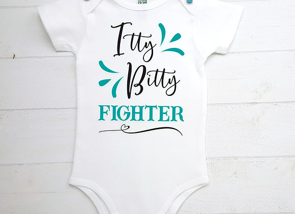 Organic Cotton Baby Bodysuit - Itty Bitty Fighter