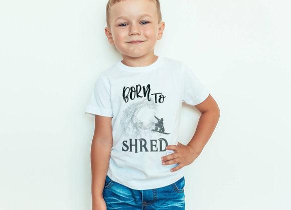 Kids Organic Cotton TShirt - Snowboard - Born to Shred