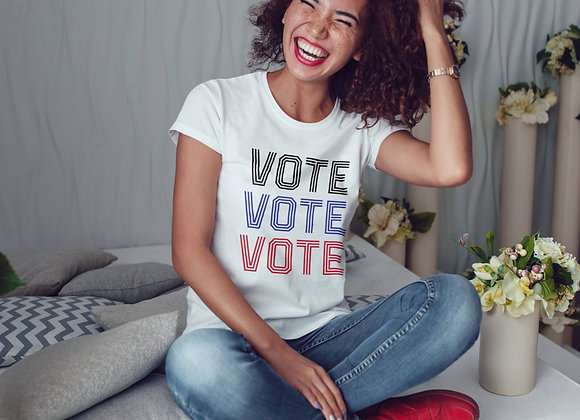 Women's Organic Cotton TShirt - Vote Vote Vote