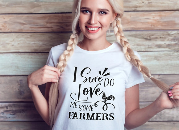 Women's Organic Cotton TShirt - I Sure Do Love Me Some Farmers
