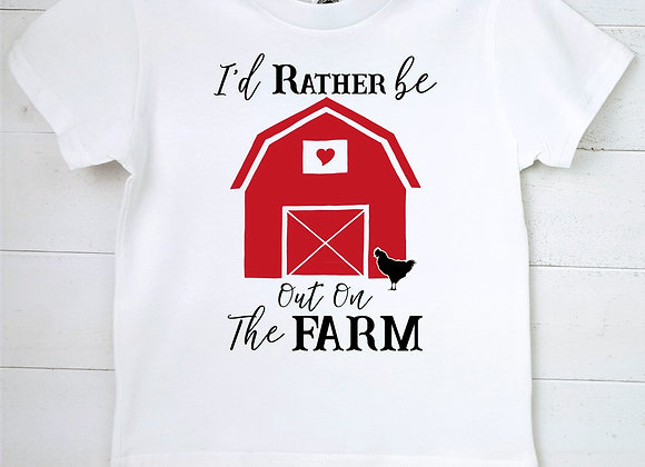 Kids Organic Cotton TShirt - I'd Rather Be Out on the Farm