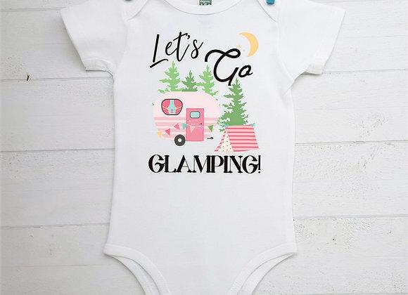 Organic Cotton Baby Bodysuit - Let's Go Glamping