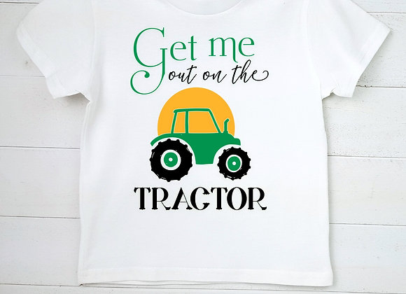 Kids' Organic Cotton TShirt - Get Me Out on the Tractor