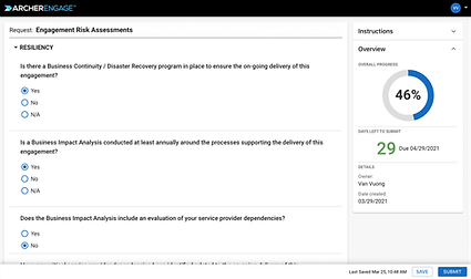 risk management for business users screenshot