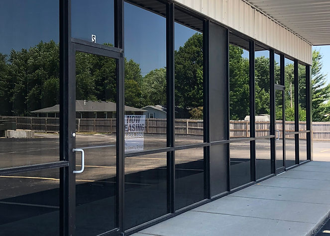 View of Glass frontage of leasing spaces available