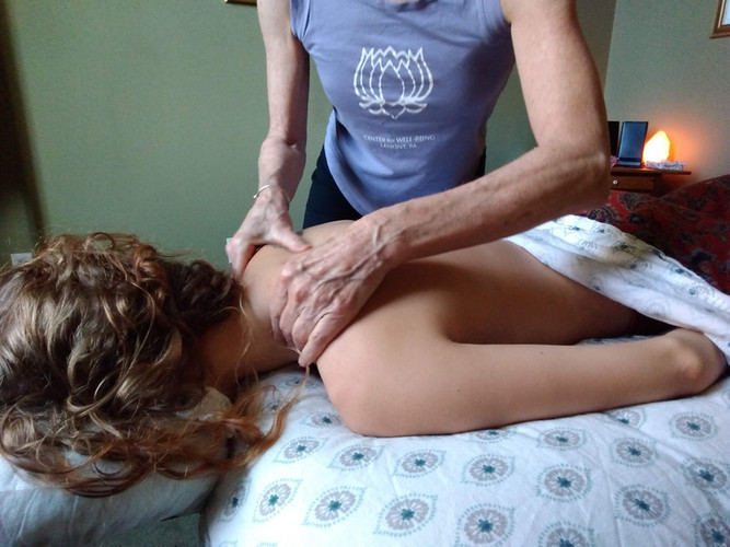 Massage session with Kate.