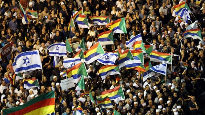 Druze-Israelis protest the Nation-State Law. (photo credit: REUTERS)
