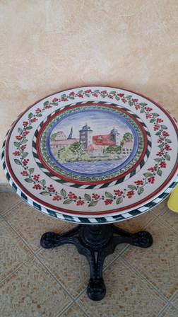 Tisch mit Bemalung Thurnau