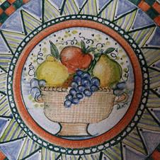handbemalte Keramik Tisch aus Thurnau