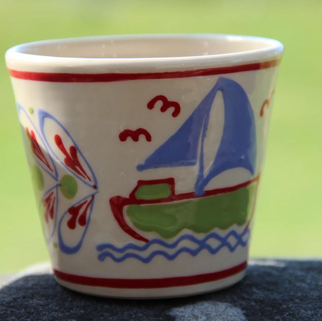 Kindertasse Segelboot