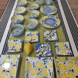 Zitronengeschirr