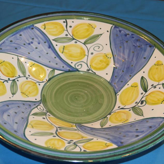 Schale Zitronenmotiv mit blau