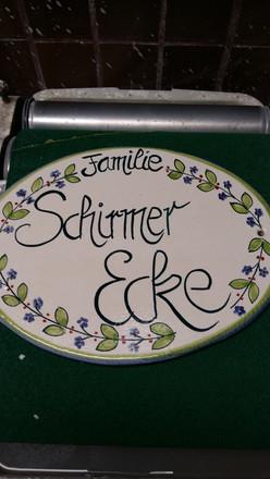 Namensschild Schirmer Ecke