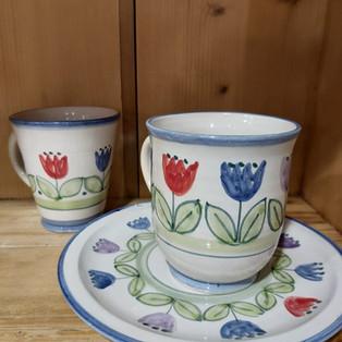 Tassen Tulpenmuster