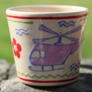 Tasse mit Hubschrauber