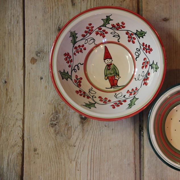 Schalen mit Weihnachtsmotiv