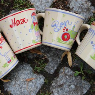 Kindertassen aus Keramik