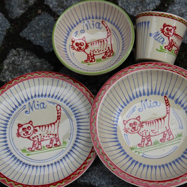 Kinderset Keramik Katzen