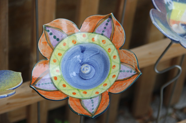Keramikblumen aus Thurnau