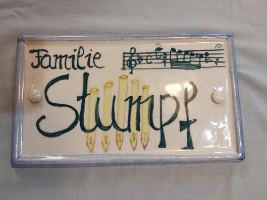 Namensschild Stumpf